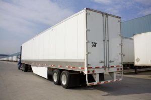 Truck with underride guard